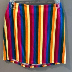 Princess polly multi colored festival skirt
